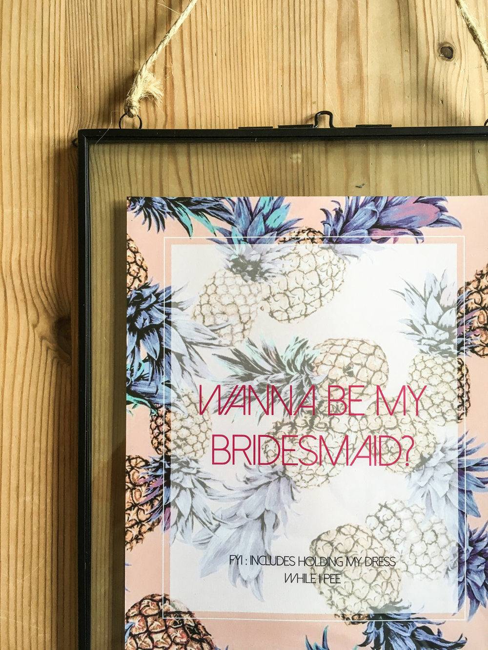 bridesmaid card in a from Sarah Ardrey designs hertfordshire
