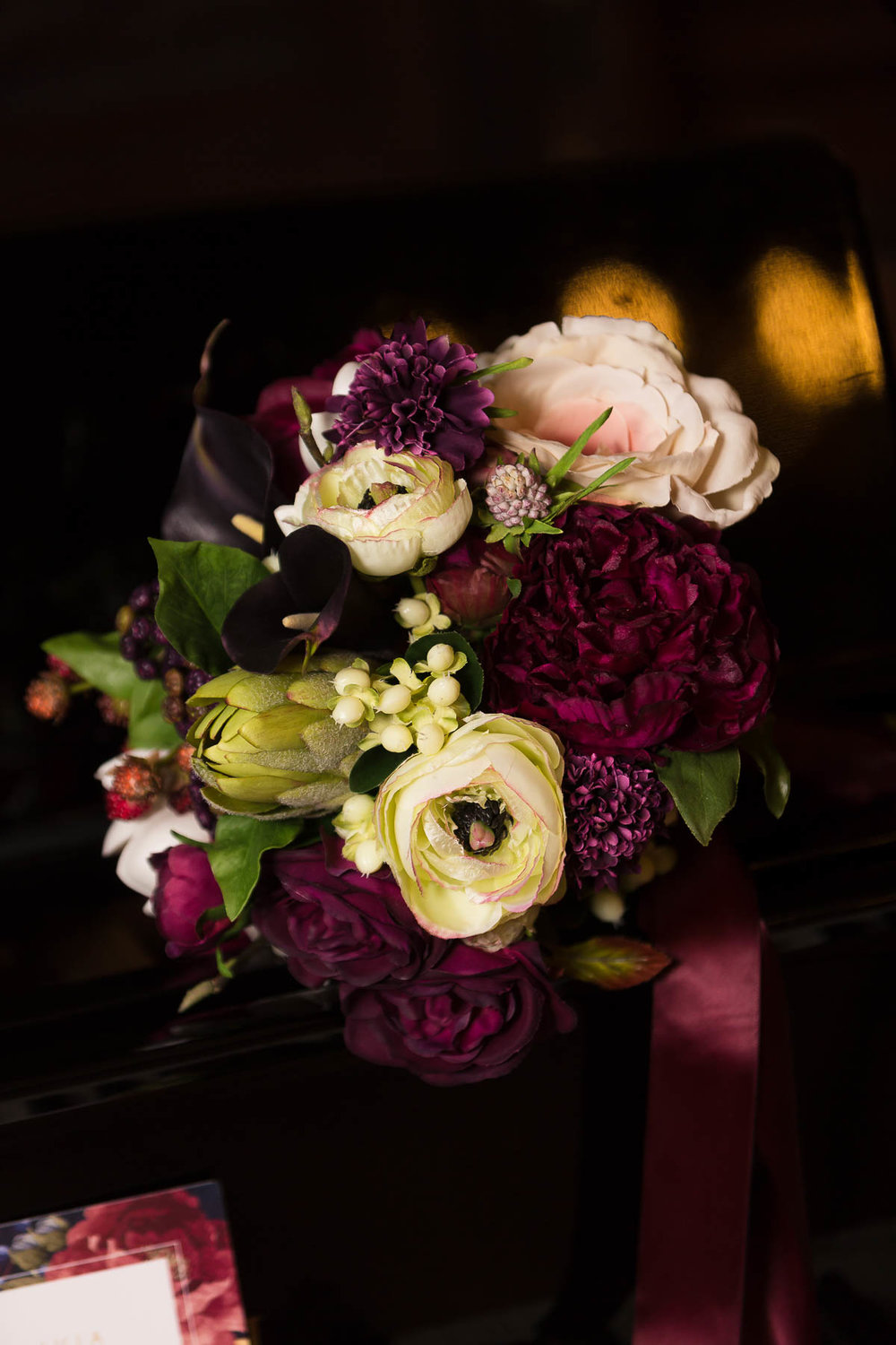 red berry and navy wedding flower ideas - silk flowers hertfordshire