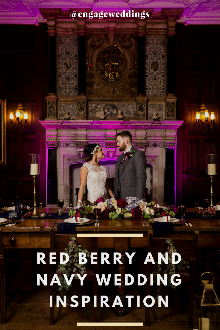 red berry and navy wedding inspiration hertfordshire wedding ideas