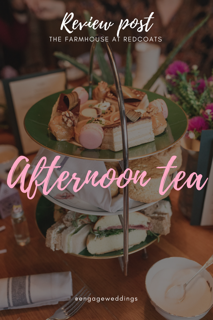 Review post - afternoon tea at the farmhouse at redcoats, hitchin hertfordshire