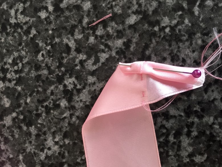 step 2 b how to make a ribbon rose