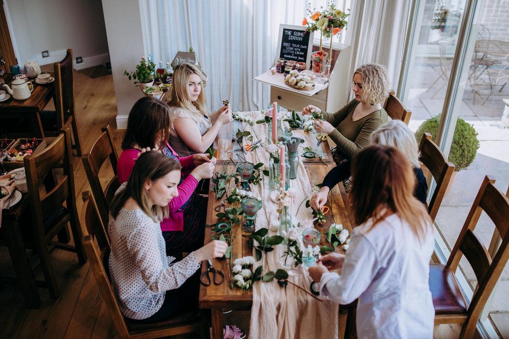 Wedding Afternoon Tea Floral Crowns Cambridgeshire