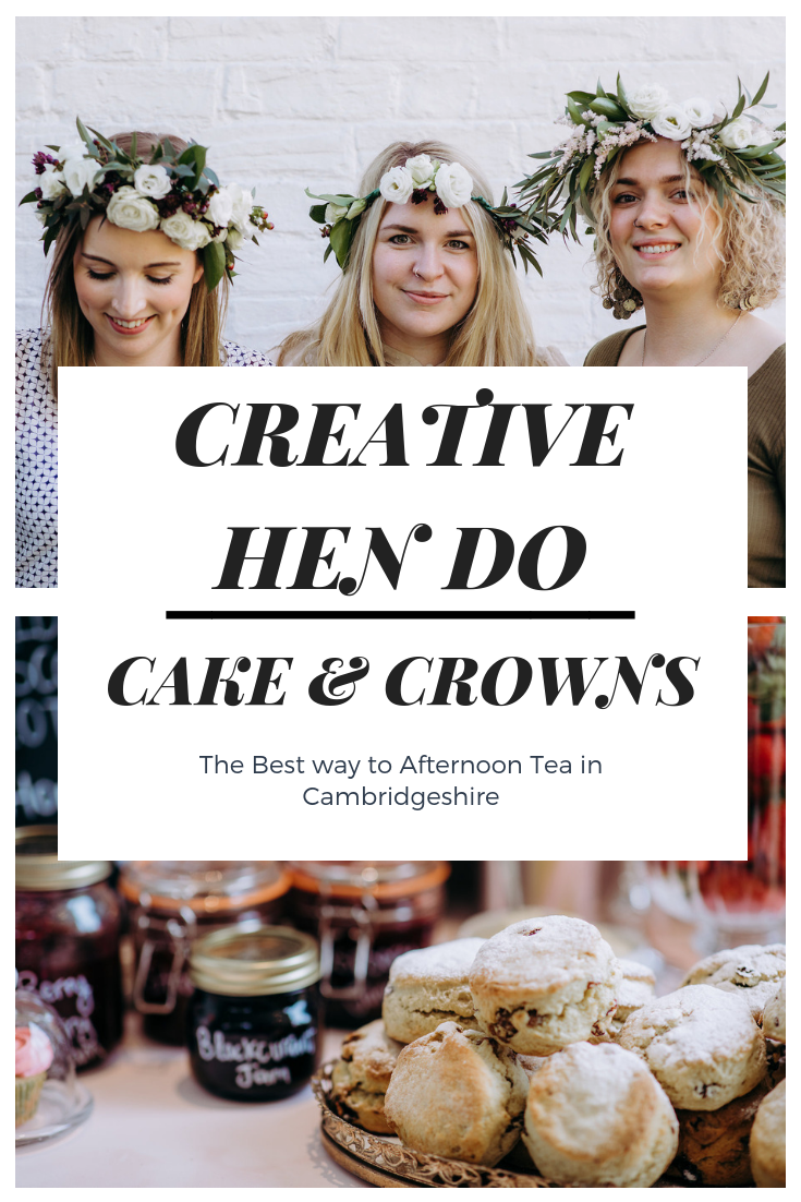 WEDDING HEN DO CAKE AND CROWNS CAMBRIDGESHIRE