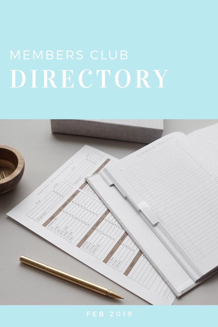 Engage Members Club directory