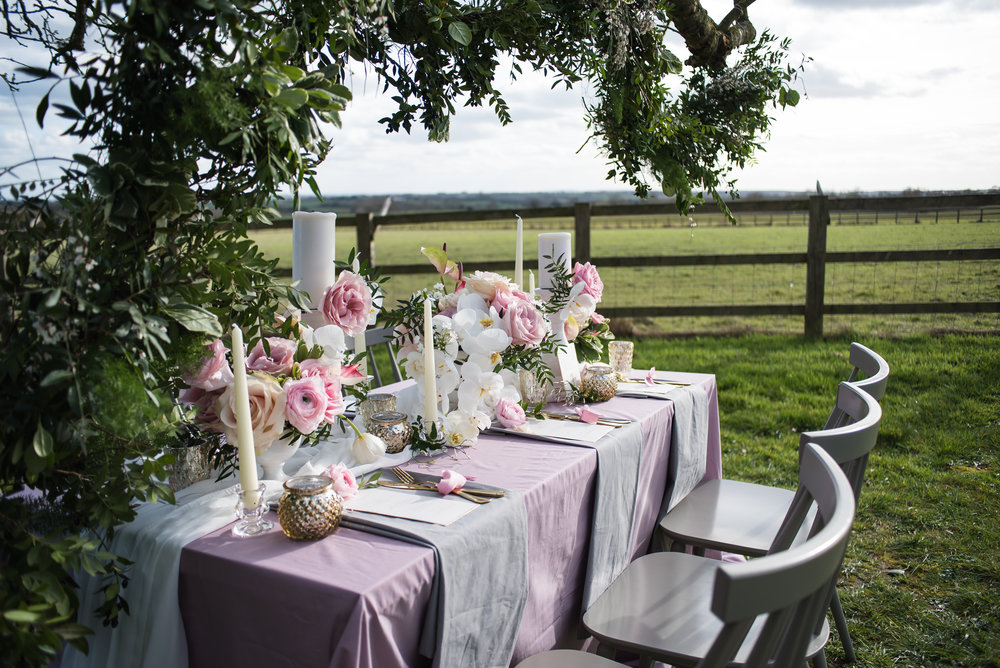 Luxe floral wedding inspiration pale pink and dusky violet