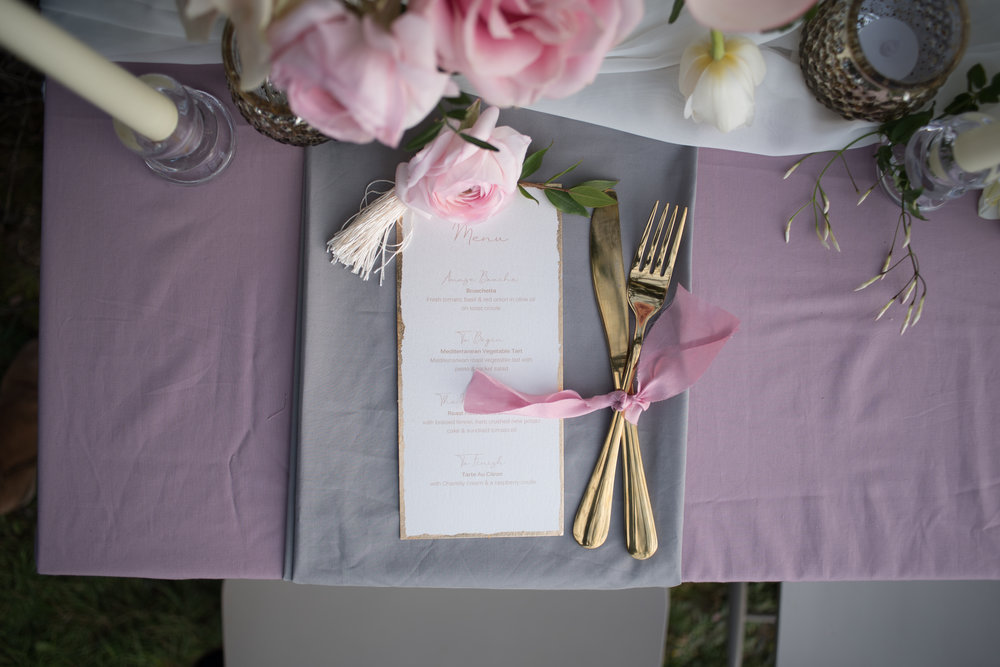 Luxe floral wedding inspiration dusky pink and violet