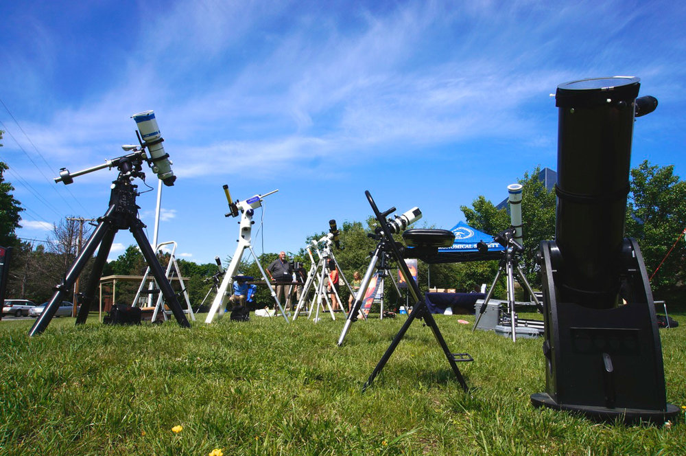 Telescopes and Stargazers at the McAuliffe-Shepard Discovery Museum