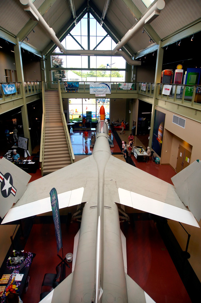 XF8U-2 Crusader Jet at the McAuliffe-Shepard Discovery Center