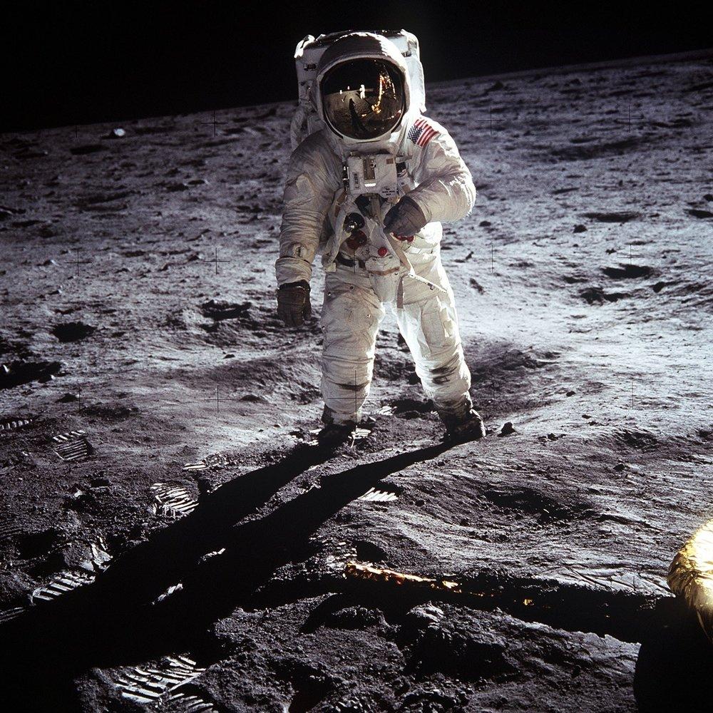 apollo 11 astronaut Buzz aldrin on the moon - image courtesy nasa