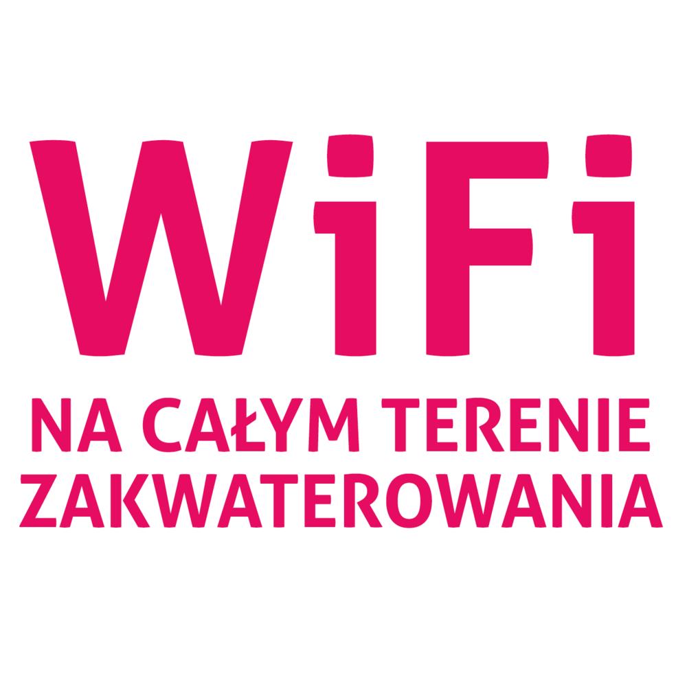 WiFi na całym terenie zakwaterowania