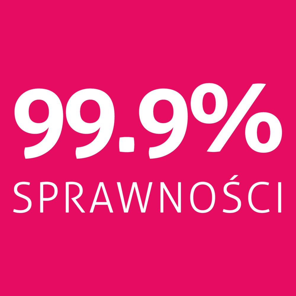 99.9% sprawnośći
