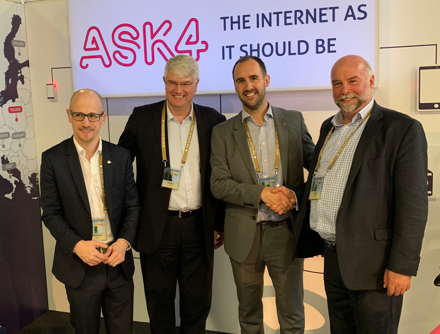 From left to right: Jonathan Burrows, CEO ASK4, Harald Hubl, Investment Director MILESTONE, Jon Thornhill, Commercial Director ASK4, Gary Clarke, CEO MILESTONE