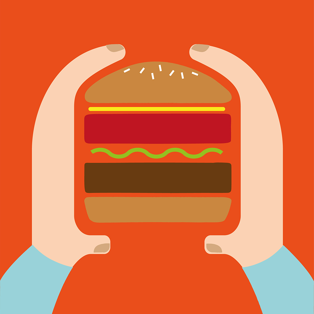 Positive Burger Co - Illustration / Poster Design