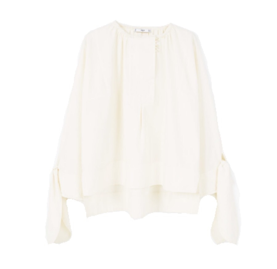 Cream Tie Sleeve Blouse.jpg