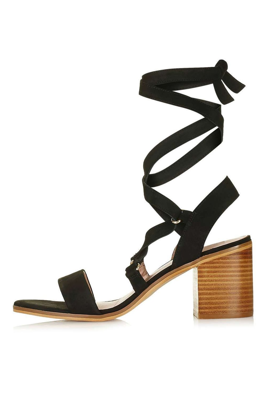 Black tie sandals