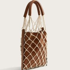 Brown netted bag
