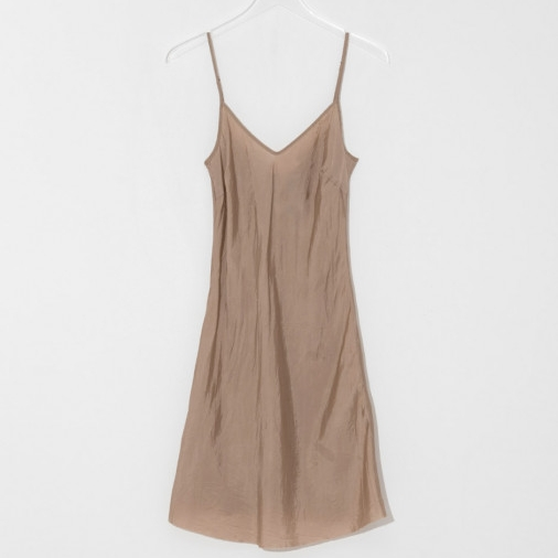 Camel slip dress