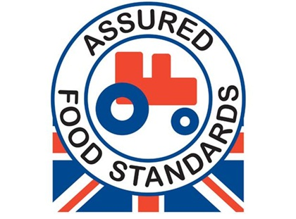 red tractor - assured food standard - This is my favourite symbol because, let's be honest, it's the most cheery. The Red Tractor, or the Assured Food Standard, confirms that the food you are buying is the following five things: 1.quality food you can trust - they don't allow things like growth hormones 2.that all food can be traced right back to the original British farms 3. farmers care about their animals 4. farmers care about our countryside and 5. your food has been born, grown, prepared and packed in the UK.