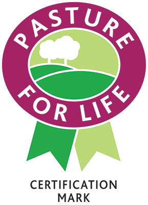 pasture for life certification - If you see this on your beef, lamb and dairy products you know that the animals were 100% grass-fed. This gives animals access to a completely natural and varied diet, with the added benefits of being environmentally friendly and supporting diverse wildlife.