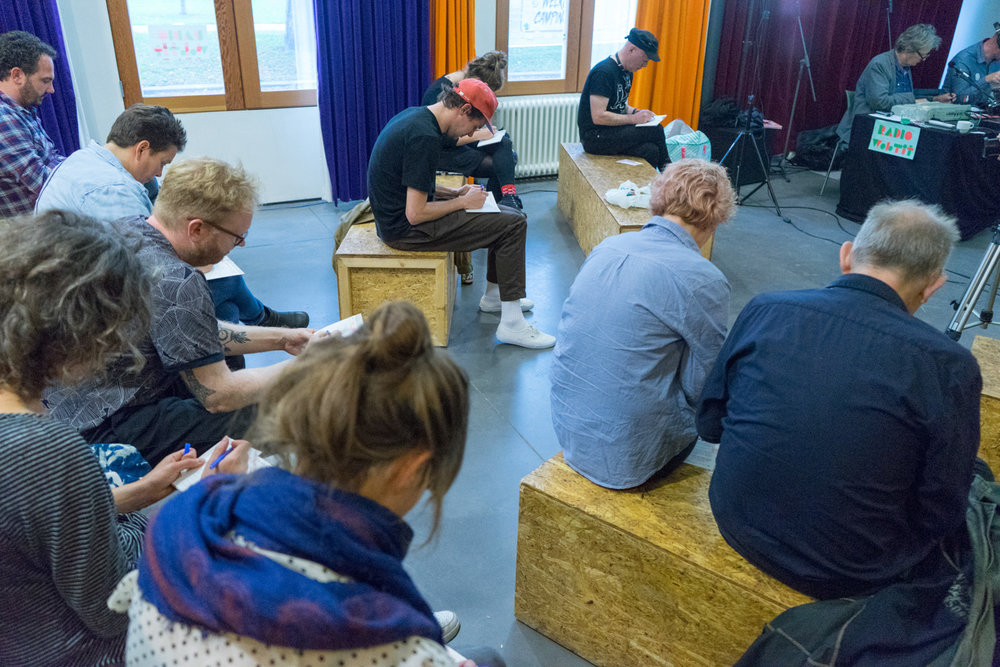 The audience in full concentration while participating in the Wobby Masterclass