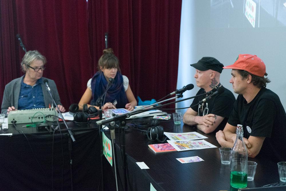 Nick J Swarth and Bobbi Oskam being interviewed by Anneroos Goosen
