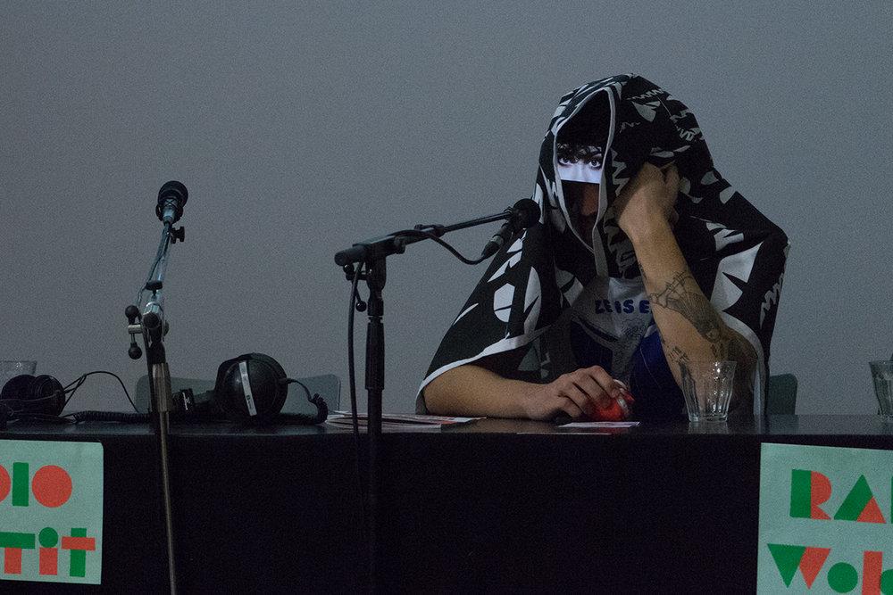 Jip Piet performing as an alternative for being interviewed