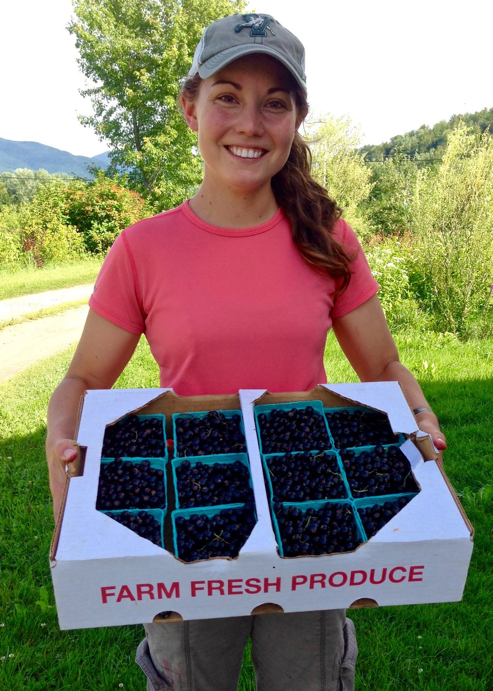 Alisha Utter (Sweetbranch Syrups LLC), farmer and syrup maker - Alisha grew up in New York's Hudson Valley. After earning a B.A. in Environmental Policy and Marine Science from the University of California, San Diego, she participated in the University of Vermont's Farmer Training Program in 2014. Along the way, she fell in love with Vermont. She is grateful to the farming community, especially mentor farmers Pam and Ray Allen (Allenholm Farm) and Nancy and John Hayden (The Farm Between - where the black currants pictured here were harvested).  Alisha is presently working on her PhD in Plant and Soil Science at the University of Vermont. Her research includes produce safety in New England and veganic farming in the United States. She was  recognized as the 2017-2018 James Beard Foundation scholar for the northeastern US. She presently serves as a board member for the Vermont Vegetable and Berry Growers Association, leadership member with the Vermont Young Farmers Coalition, and secretary of the Champlain Islands Farmers' Market.