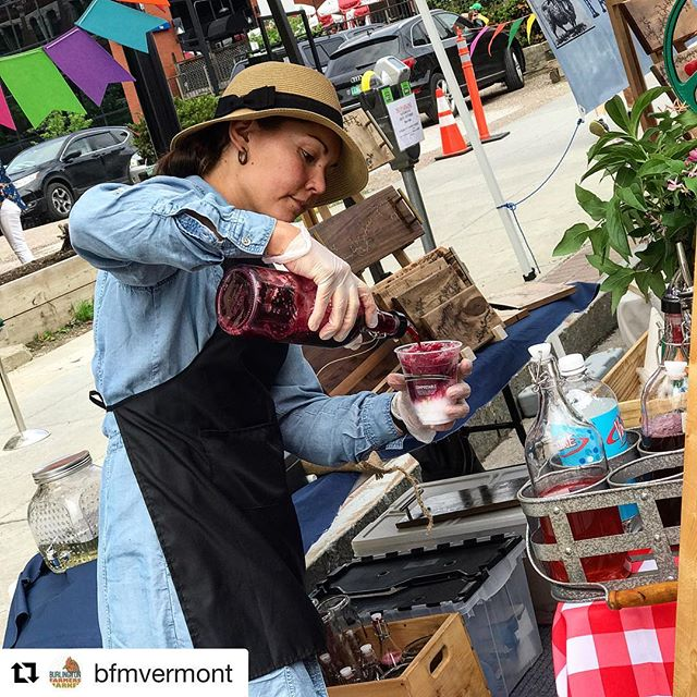 We're headed to Burlington for another great #btvfarmersmarket today! Repost @bfmvermont ・・・ Alisha from @arborfarmstead makes delicious #snowcones and #slushies in fruity and floral flavors! Perfect on a sunny market day. . . . #bfmvermont #burlingtonvt #we love our #vendors #berries #snocones 📷 by @whatsuzeeats