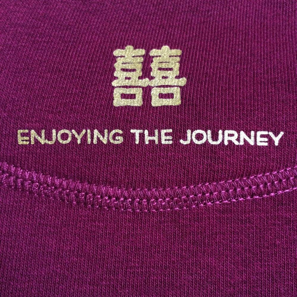 Close up, Enjoying the Journey, Burgandy