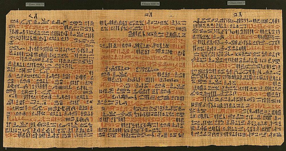 Ebers Papyrus. Photo Credit: Hanf Museum Berlin
