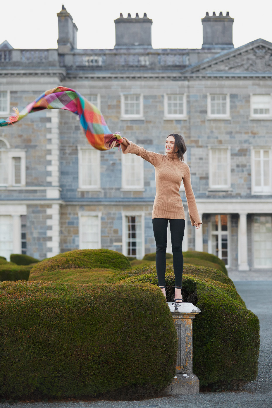 Stacey Van Berkel Photography I Carton House Travel Fashion Shoot I Avoca Ireland Blanket I Kildare, Ireland