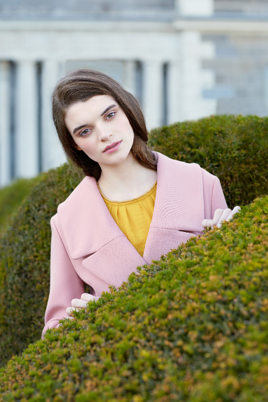 Stacey Van Berkel Photography I Pretty in Pink Fashion Shoot I Mustard Yellow + Blush Pink I Carton House I Kildare, Ireland