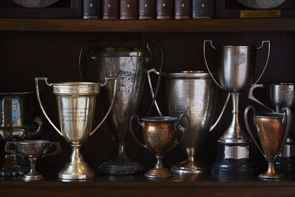 Stacey Van Berkel Photography I Equestrian Vintage Trophies I Bernhardt Furniture
