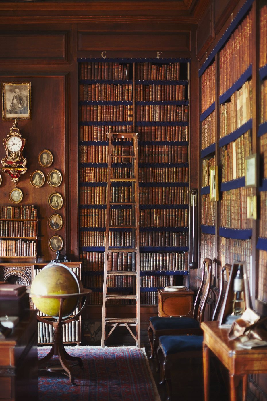 Stacey Van Berkel Photography I Beautiful library full of vintage books I Erddig Hall I Wrexham, Wales
