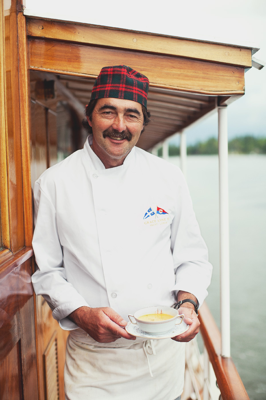 "Stacey Van Berkel Photography I Chef ""Nicky"" Nicholas Dartiailh on the Grace Anne II Luxury 1930's Yacht I Lake of the Woods I Kenora, Ontario"