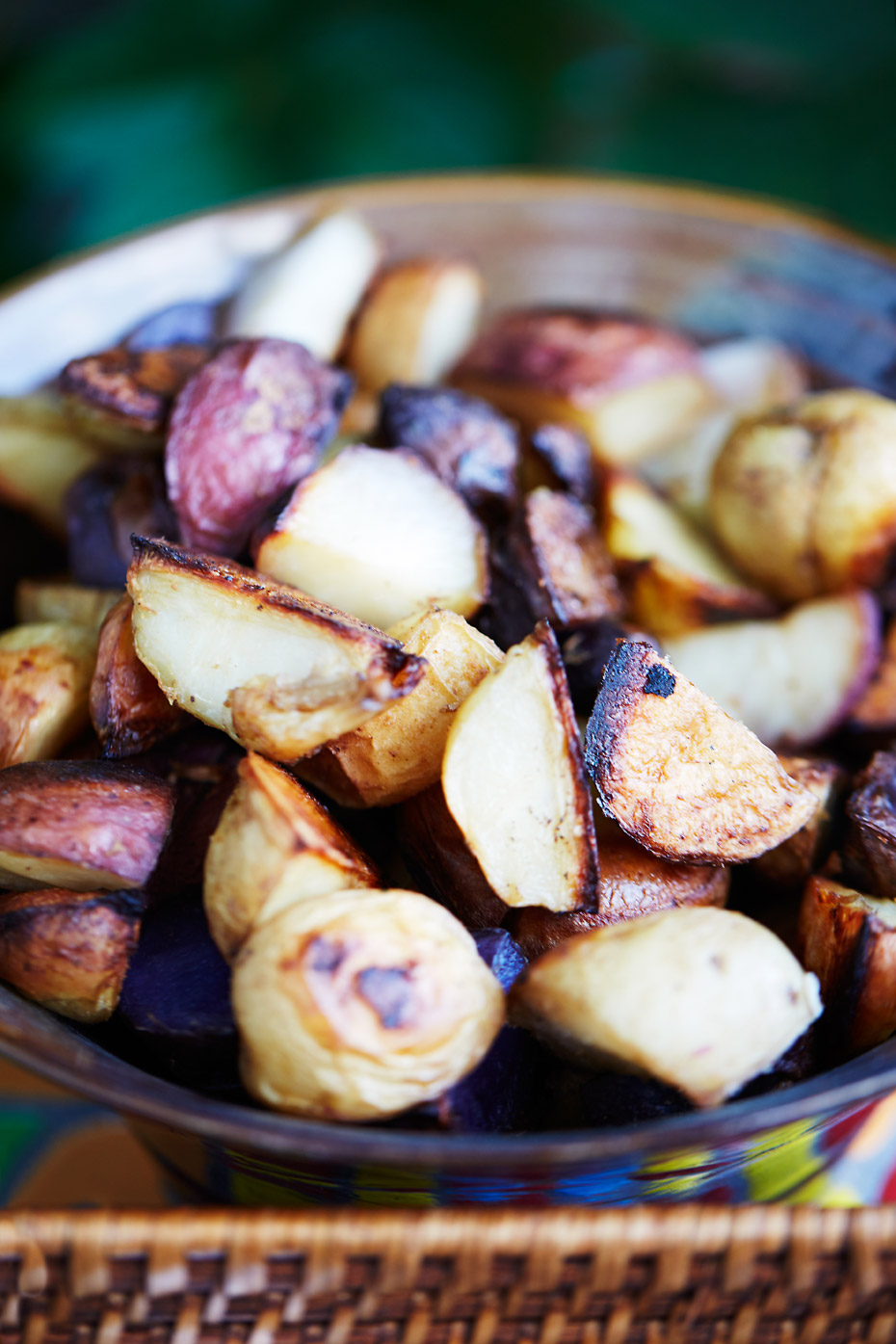 Stacey Van Berkel Photographu I Rustic Roasted potatoes in a bowl