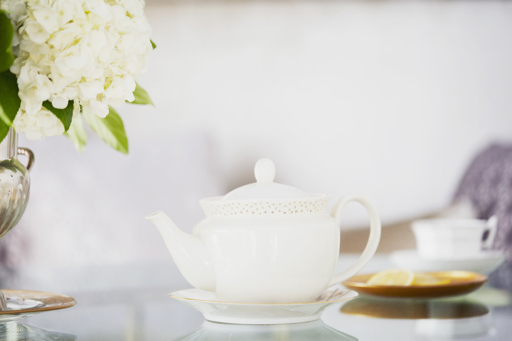 Stacey Van Berkel Photography I White tea pot