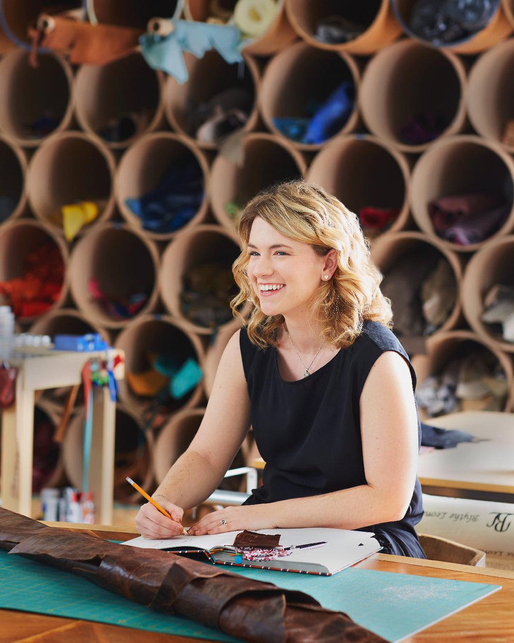 Blythe Leonard at her Thomasville studio