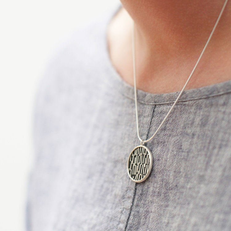 Oxidised flotsam pendant grace girvan scottish sterling silver oxidised flotsam pendant aloadofball Images