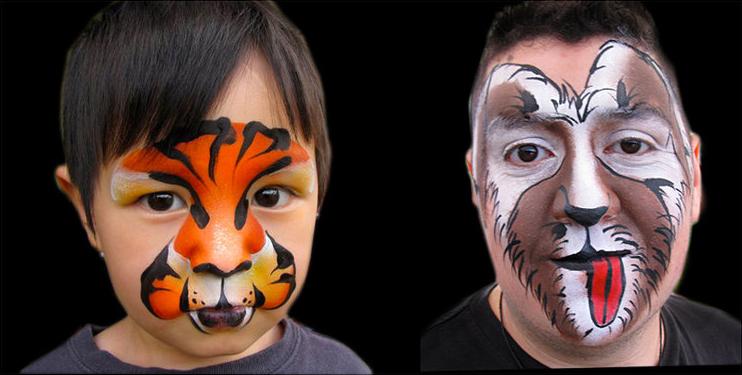 Maquillage de fantaisie pinceau et éponge 5