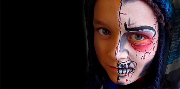 Maquillage de fantaisie pinceau et éponge 7