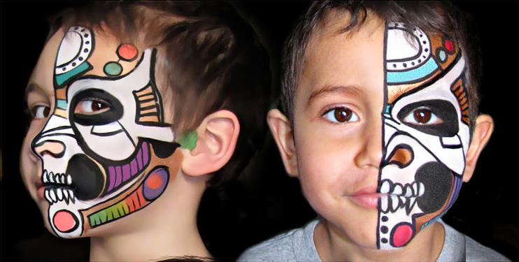 Maquillage de fantaisie pinceau et éponge 9