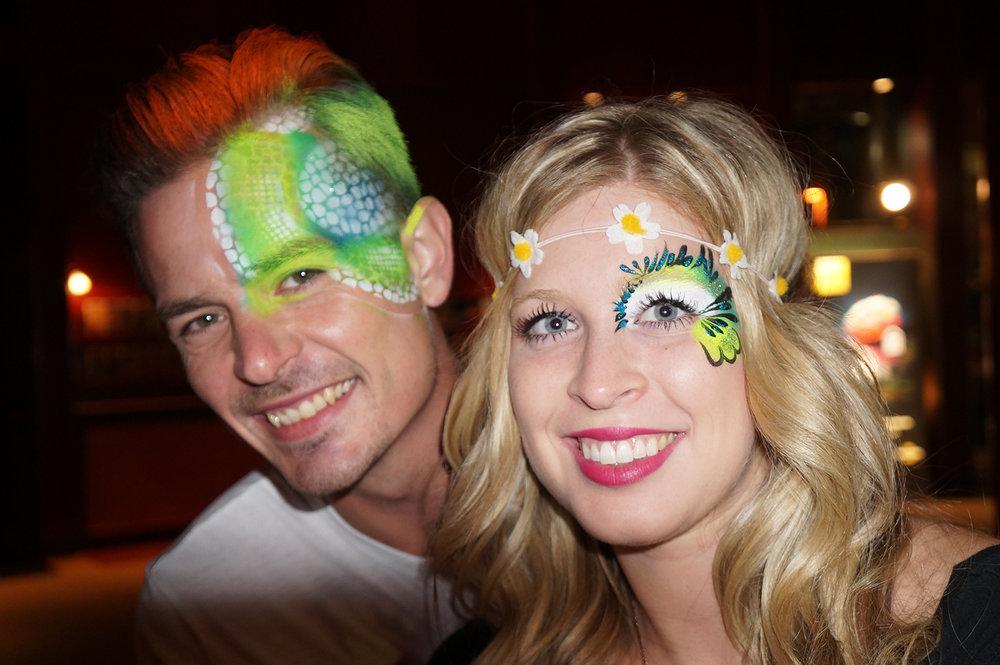 Airbrush fantasy makeup -