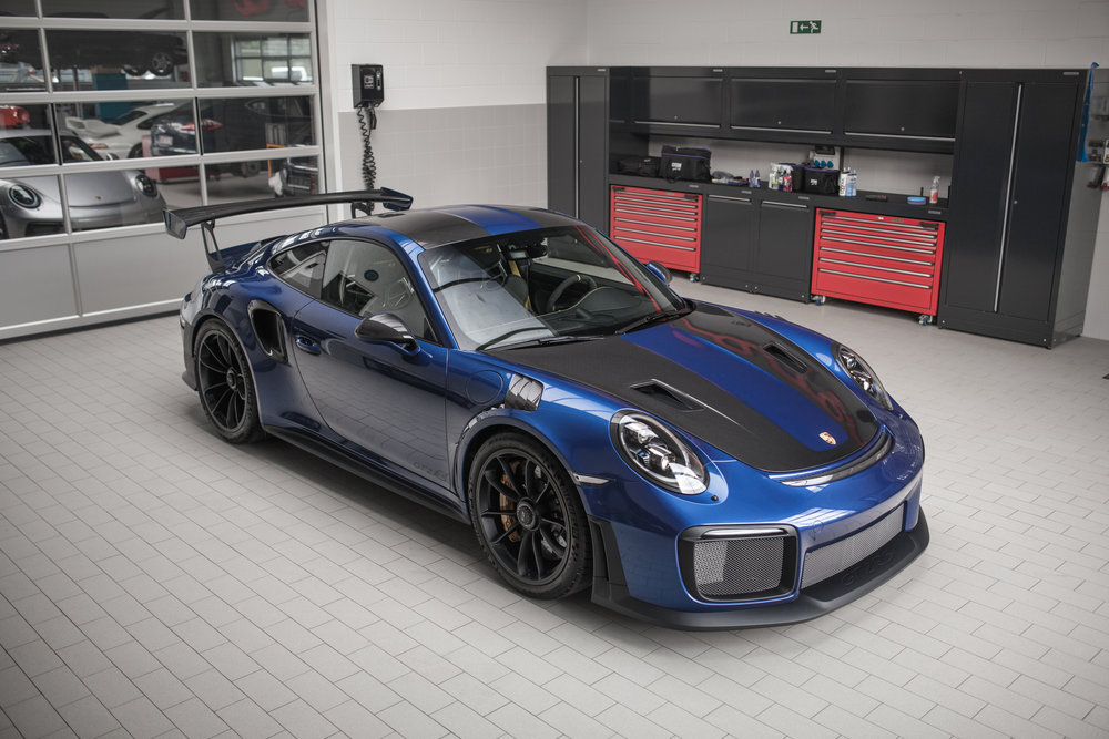 PORSCHE GT2 RS - Weissach Aquablue PTS - Full custom detail