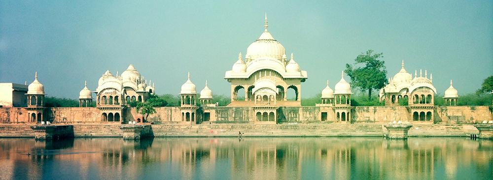 Krishna temple near Vrindavan, Northern India.