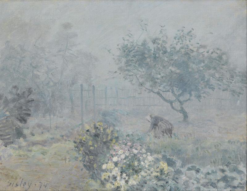 Alfred Sisley:Fog, Voisins, 1874