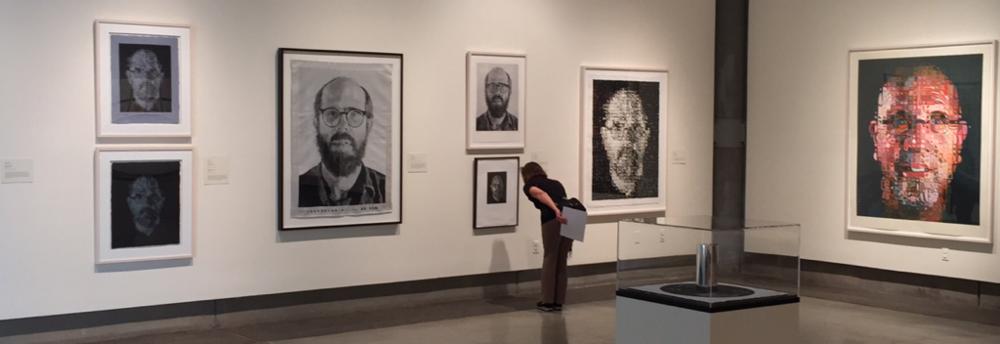 Chuck Close exhibit,Schneider Museum of Art, Ashland, Oregon.