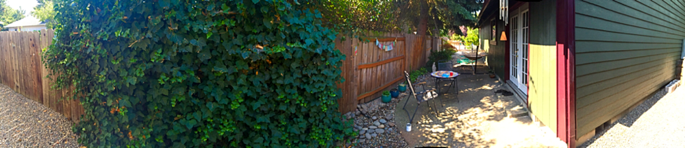 Backyard panorama, Ashland, Oregon.