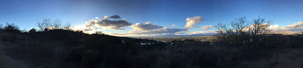 San Fernando Valley from Fryman Canyon trail, Los Angeles, California