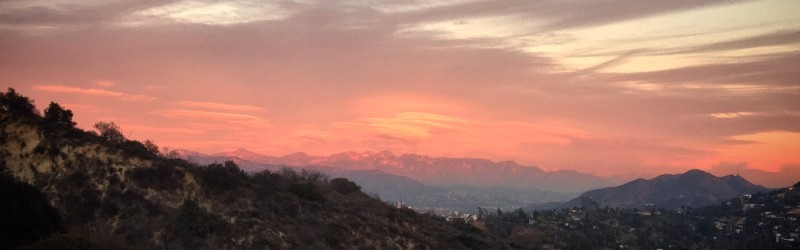 Sunset panorama, Southern California